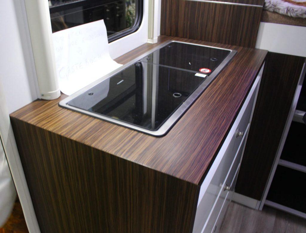 futuristic camper - kitchen