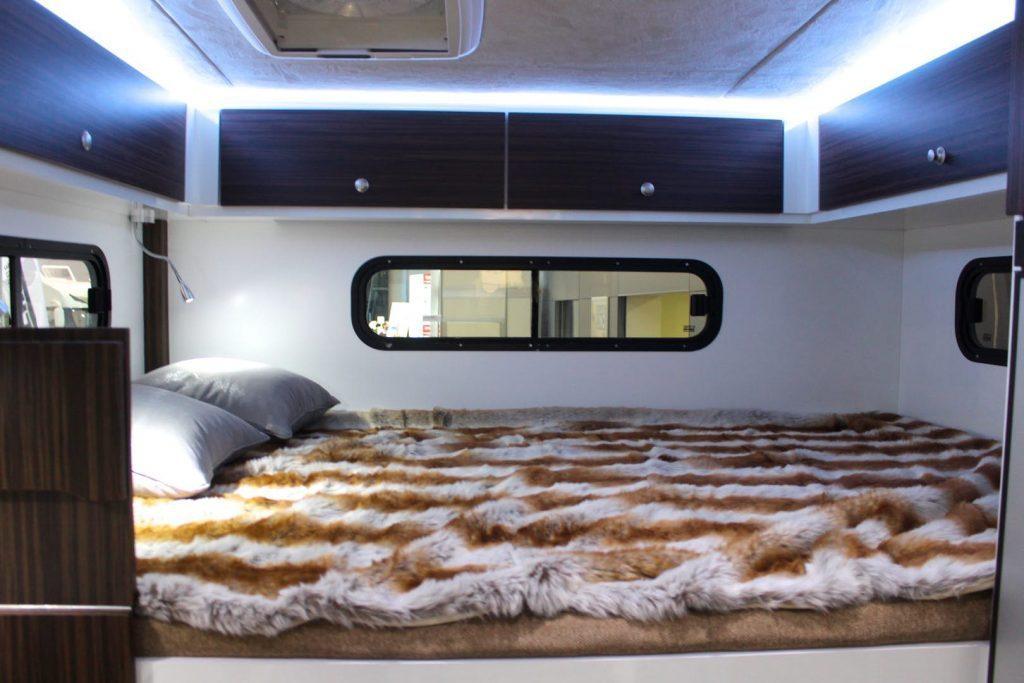 futuristic camper - bed