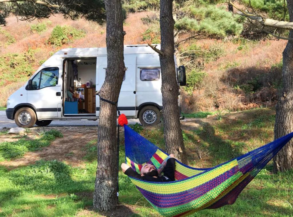 van life costs - relaxing