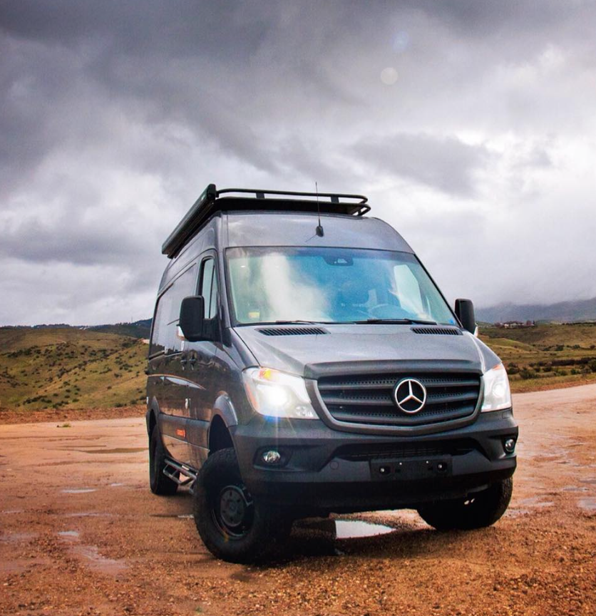 SYNC Vans mercedes sprinters can cope with anything that the elements can throw at them.