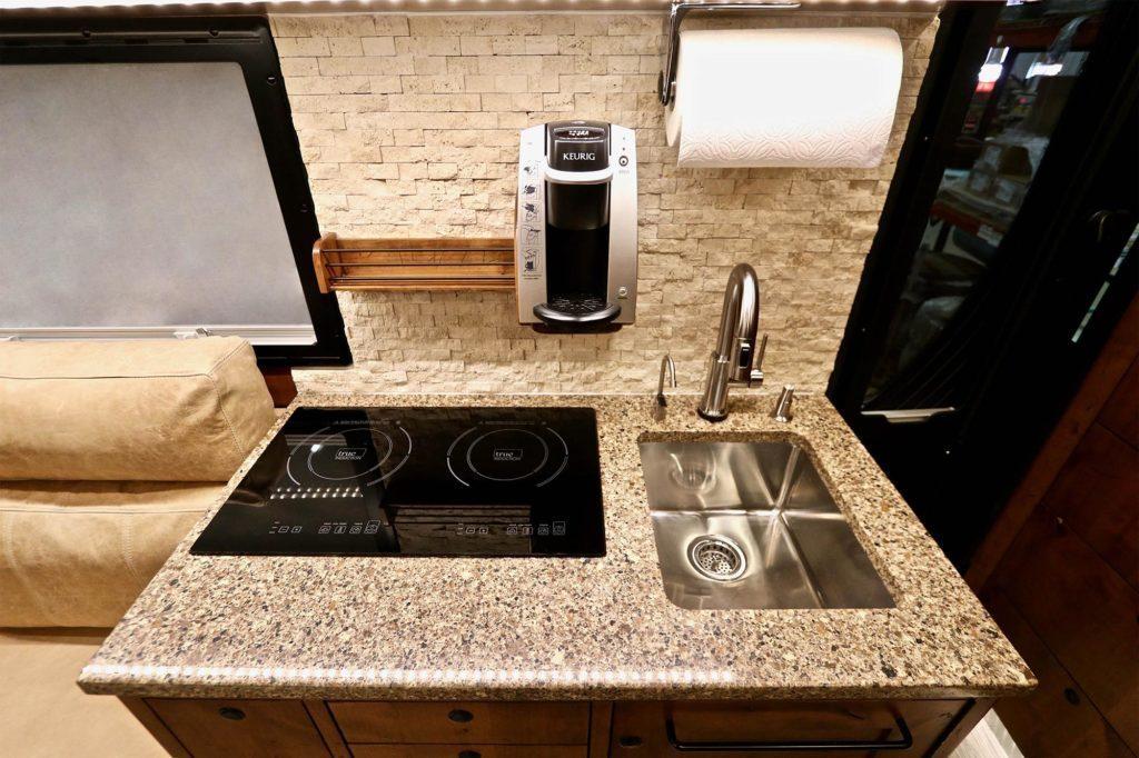 Kitchen in the EarthRoamer
