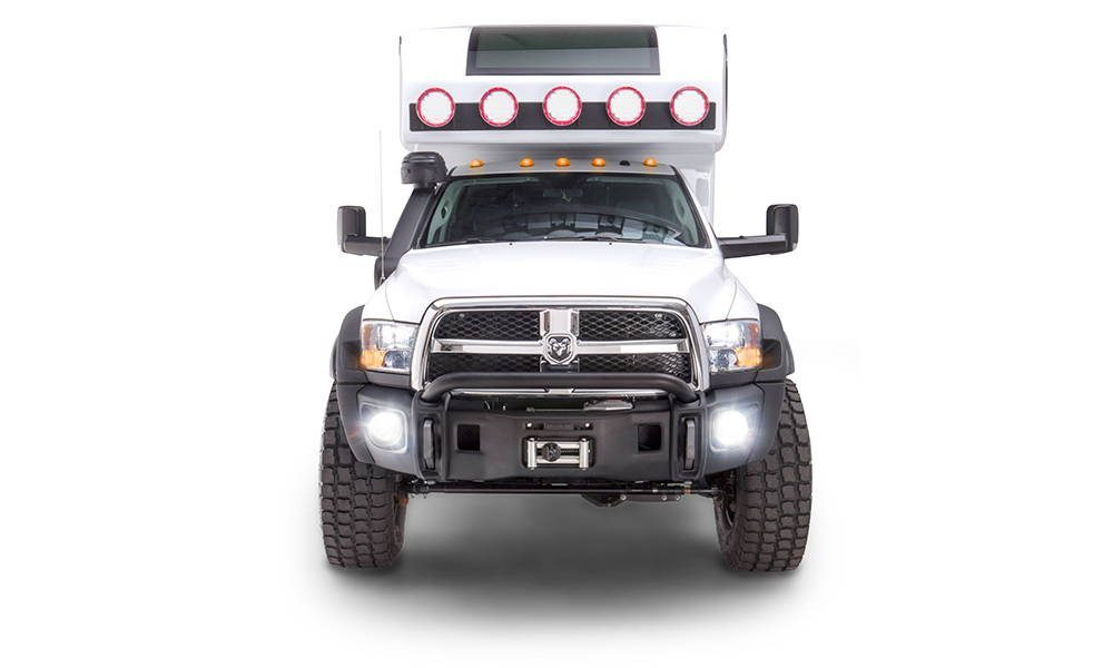 Global X Camper - Front profile of truck exterior.