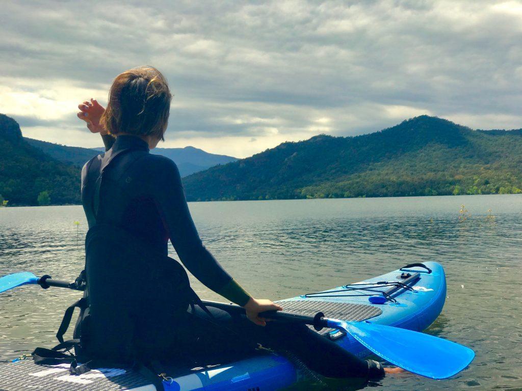 bluefin paddleboards - Rose kayak mode