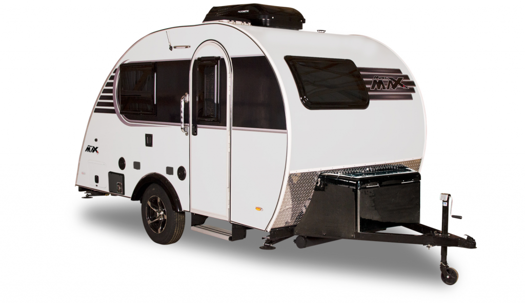 Best Teardrop Trailers - Little Guy Mini Max black and white trailer.