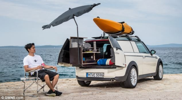 Mini Camper - Feature Image, sitting by worlds smallest camper