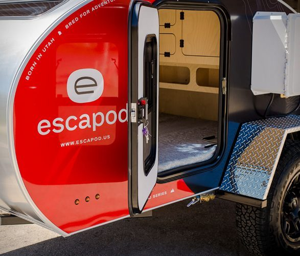 escapod camper trailer door
