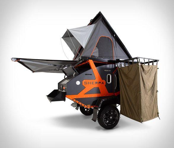 camper trailers sherpa open