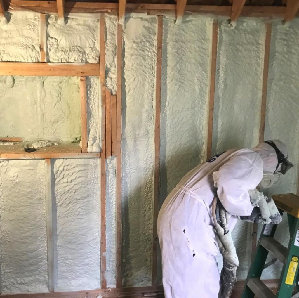 spray foam camper insulation