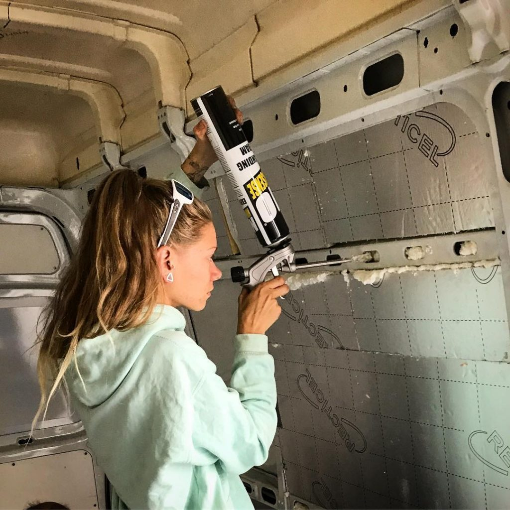 how to insulate a camper foam
