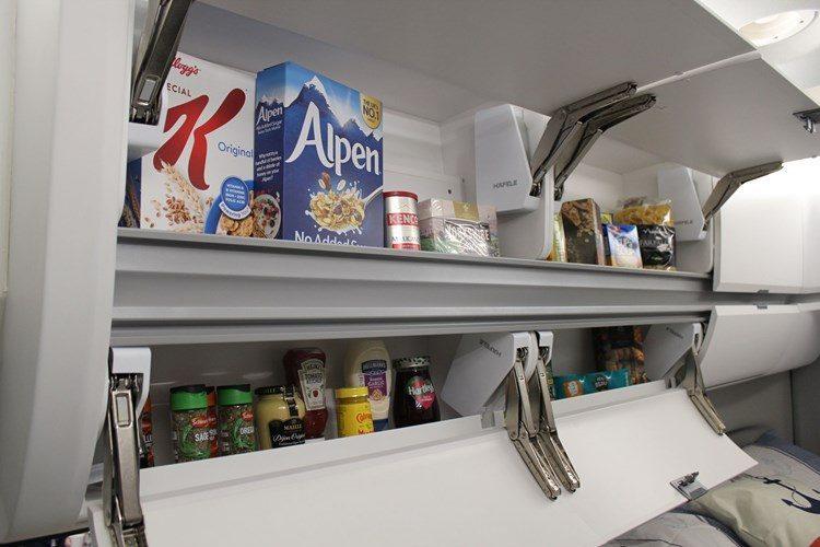 The cupboards in the Grand California are super big!