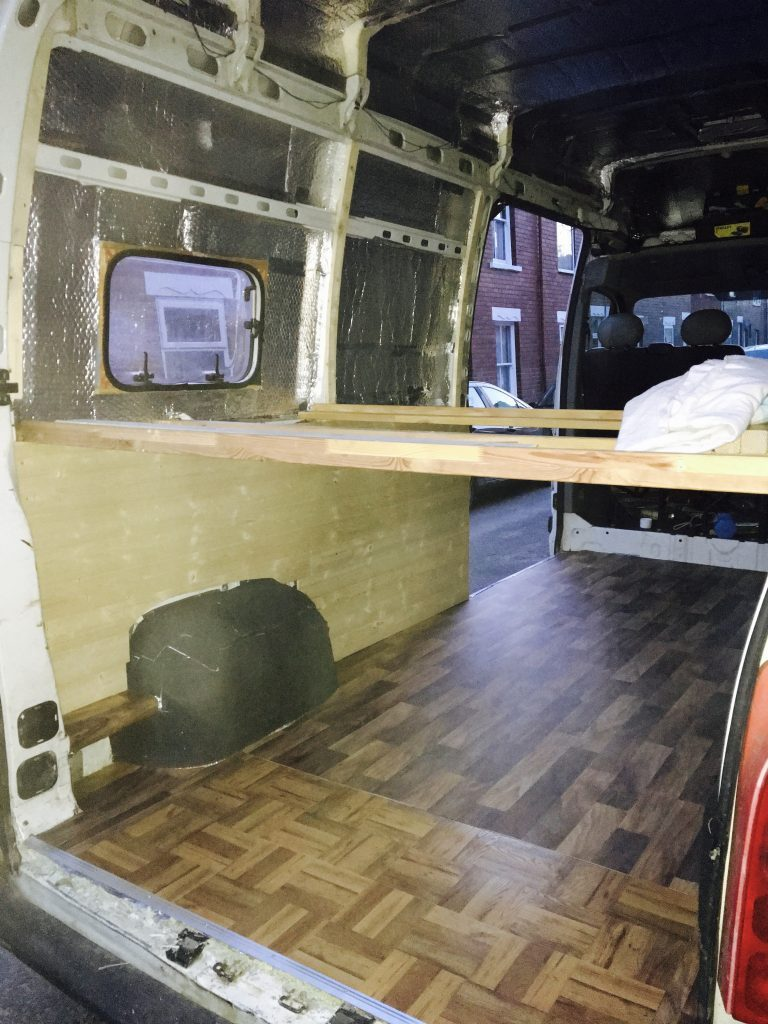 how to build a camper bed support
