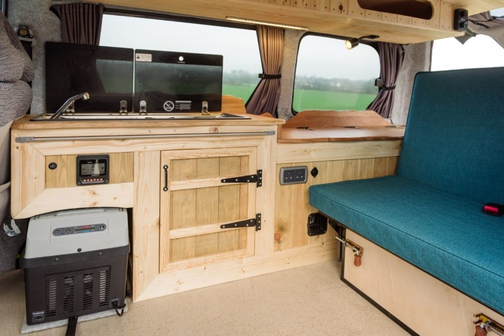 small camper van interior