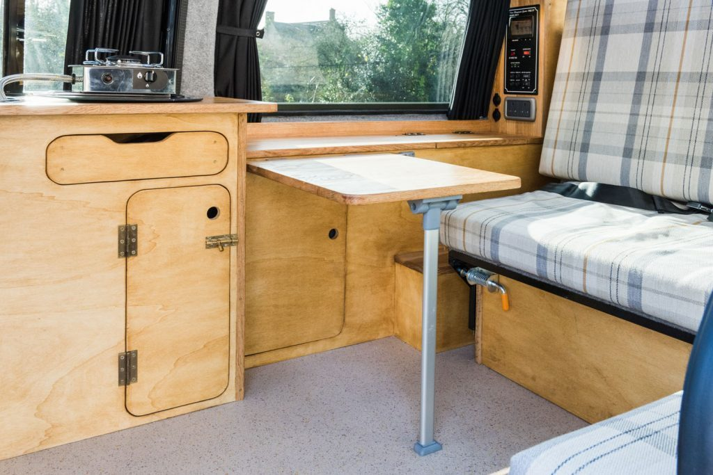 Inside of a VW Caddy Camper