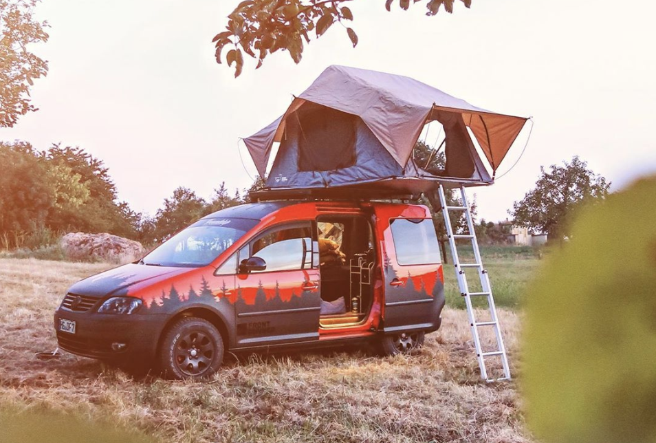 The VW caddy camper - small campers
