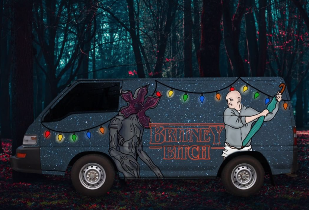 Stranger things inspired camper from Wicked Campers