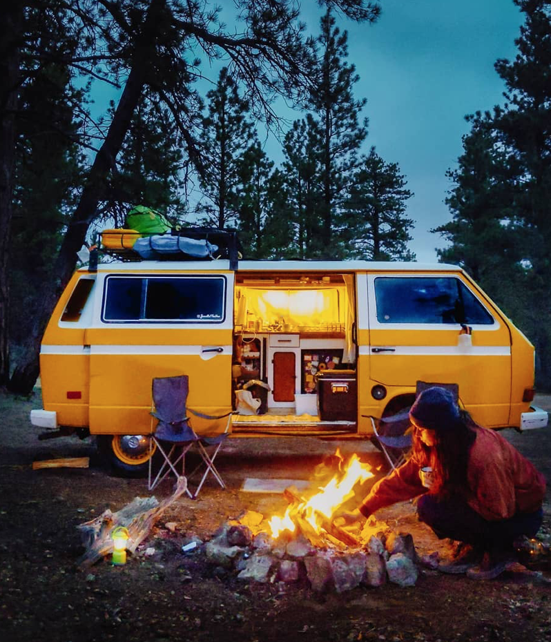 vanlifers - vanlife camp fires