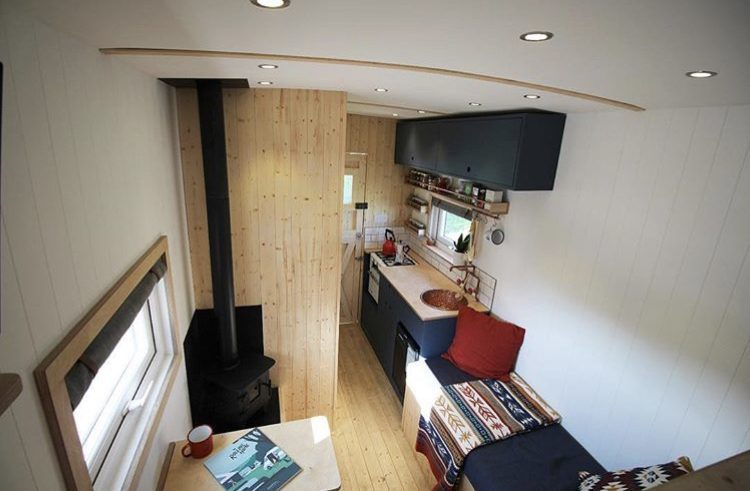 Custom vans- photo form loft bed of luton box van conversion.