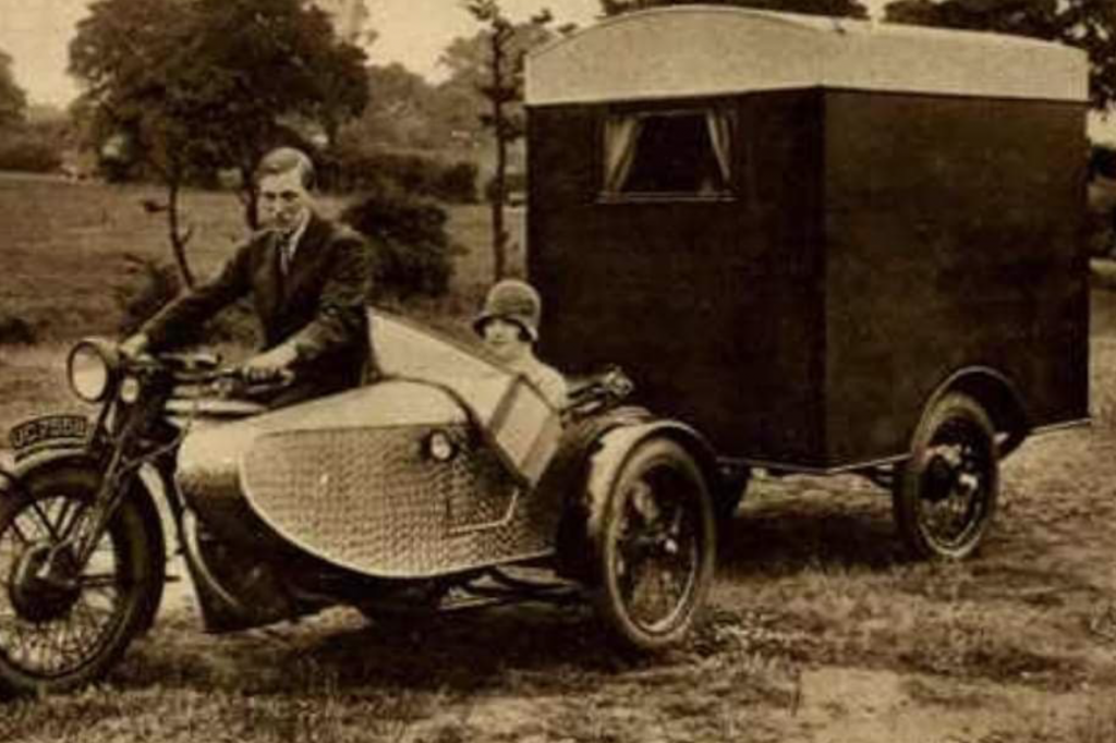 history of the camper van - the first motorised caravan