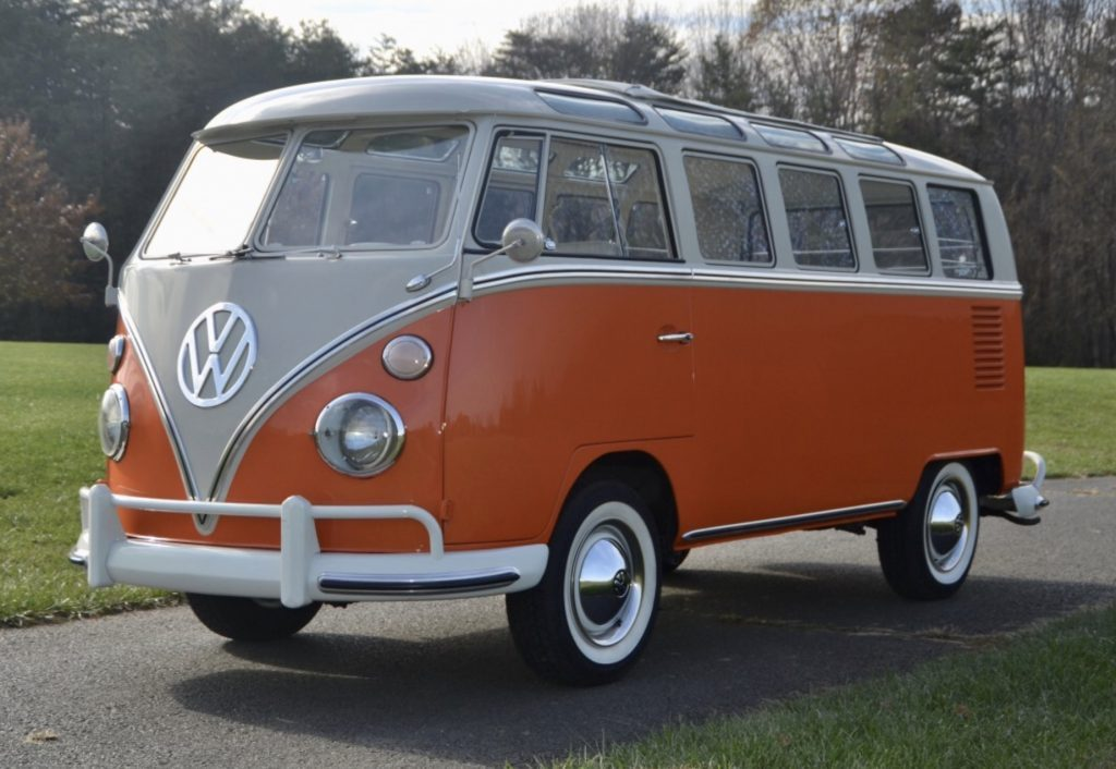 Best small RV - orange VW bus