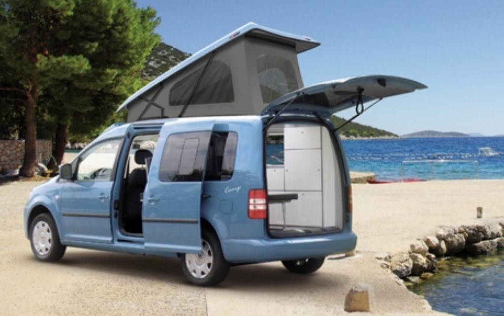 Best small RV- the tiny VW Caddy Camp Maxi from the outside