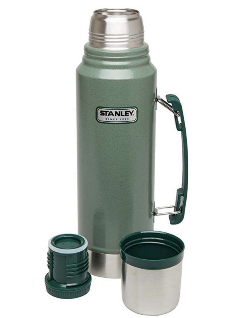 Best Camping Flasks- green stanley flask