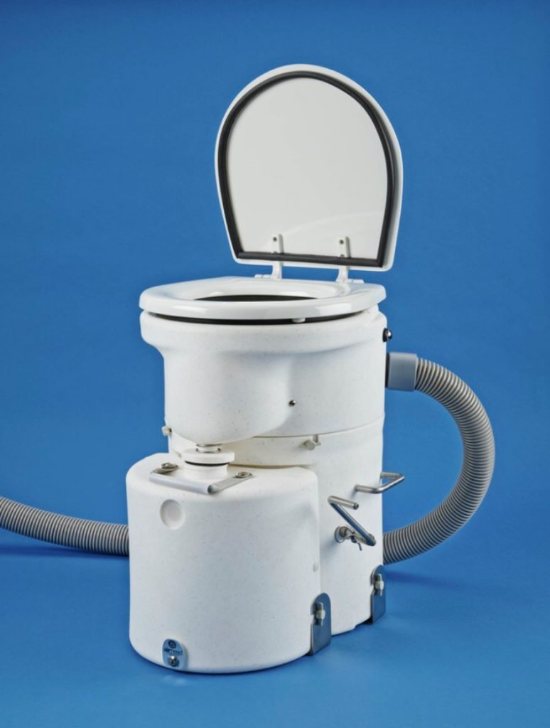 composting toilet with vent pipe