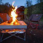 Fireside Outdoor Pop-Up Fire Pit & Heat Shield Combo