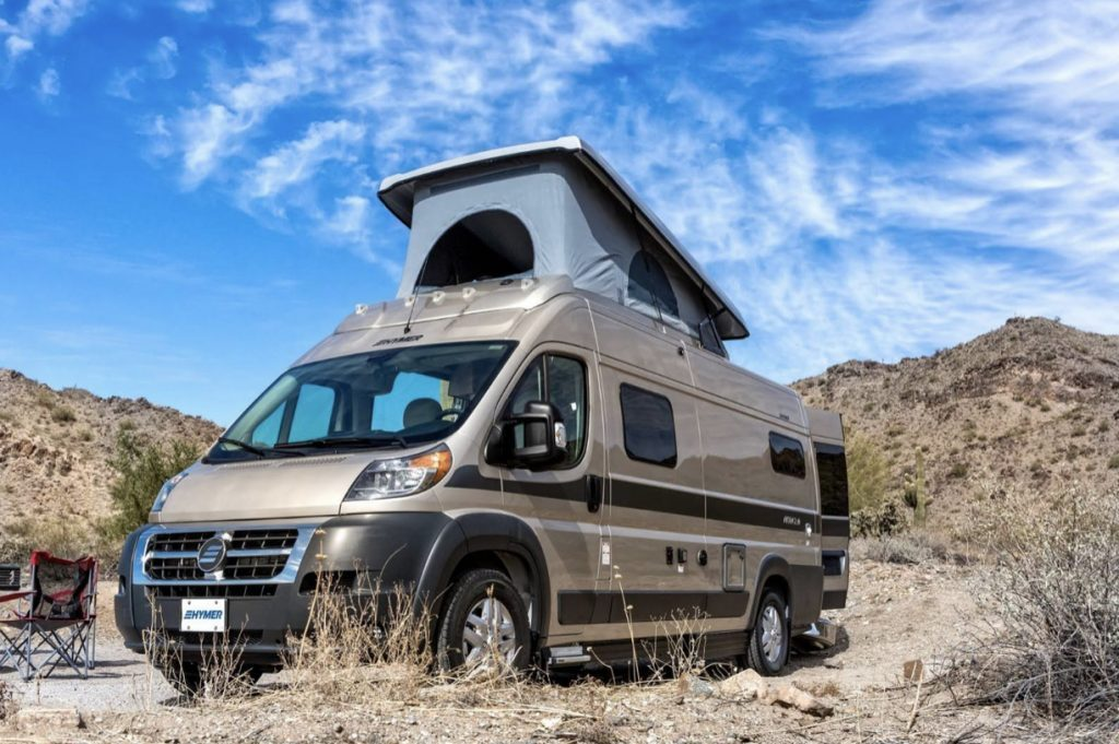 Hymer Aktiv 2.0 Exterior with roof popped