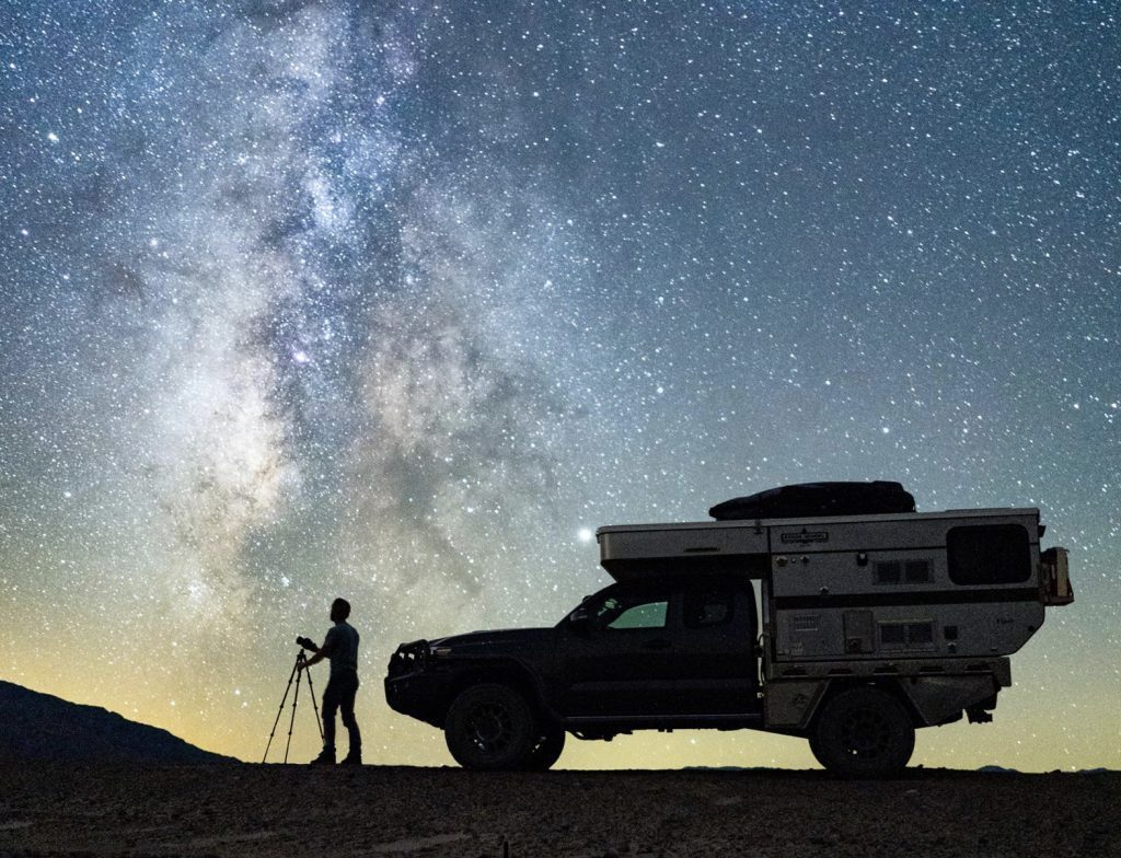 Four Wheel Camper in the stars