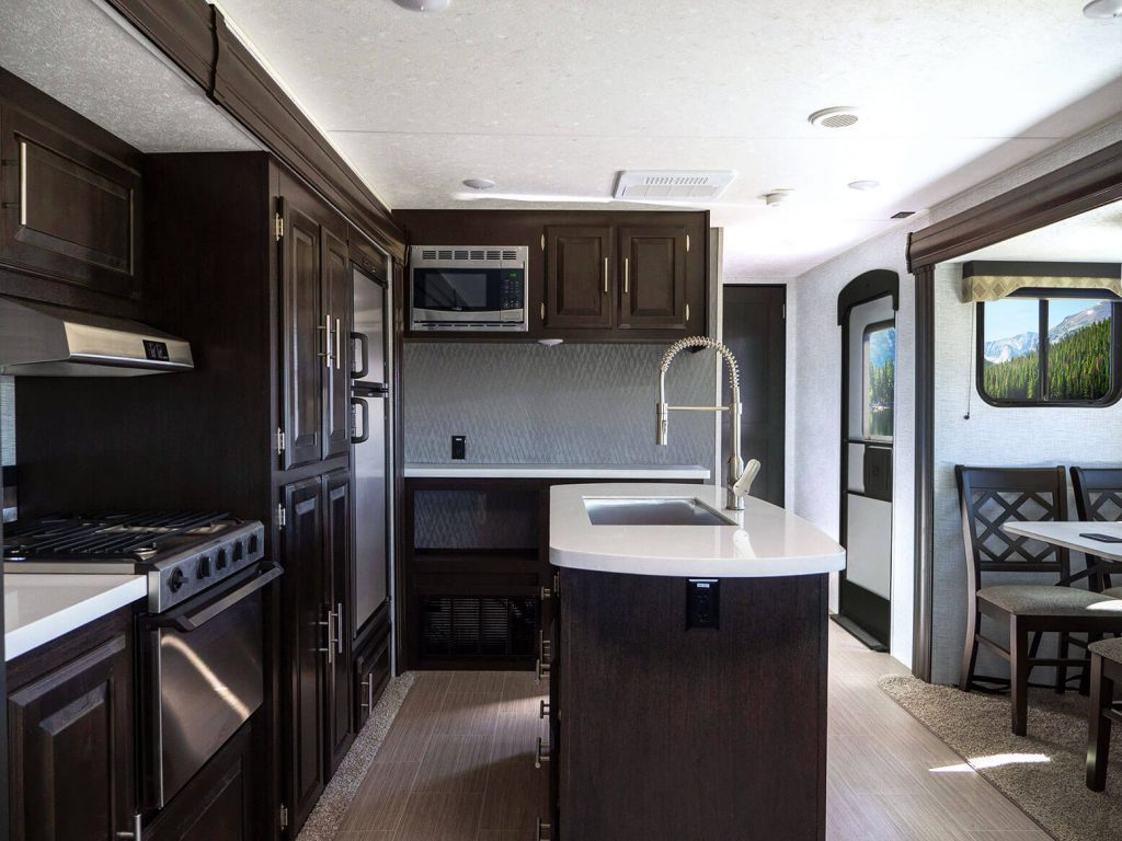 travel trailers interior
