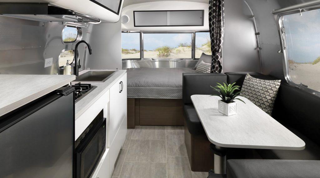 Interior of Airstream Caravel
