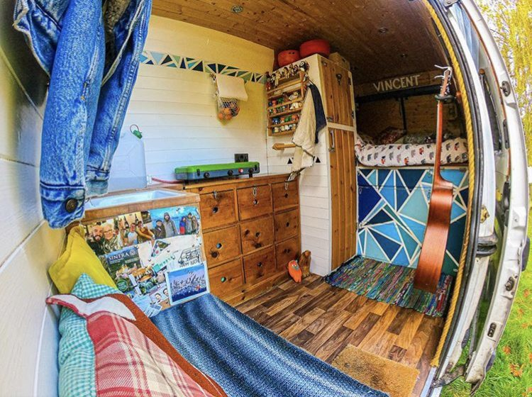DIY camper van conversions- inside Vincent vanlife's Van