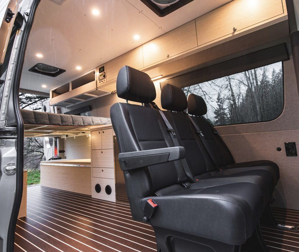 Outside Van sprinter conversion interior