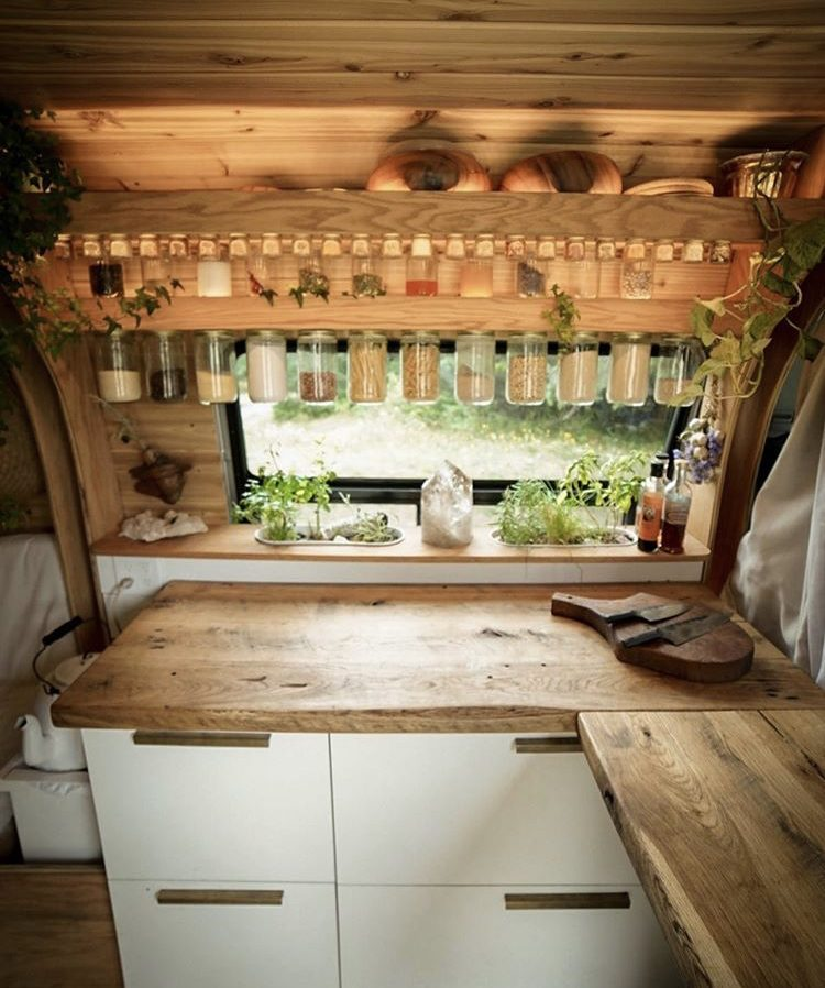 Kitchen in van