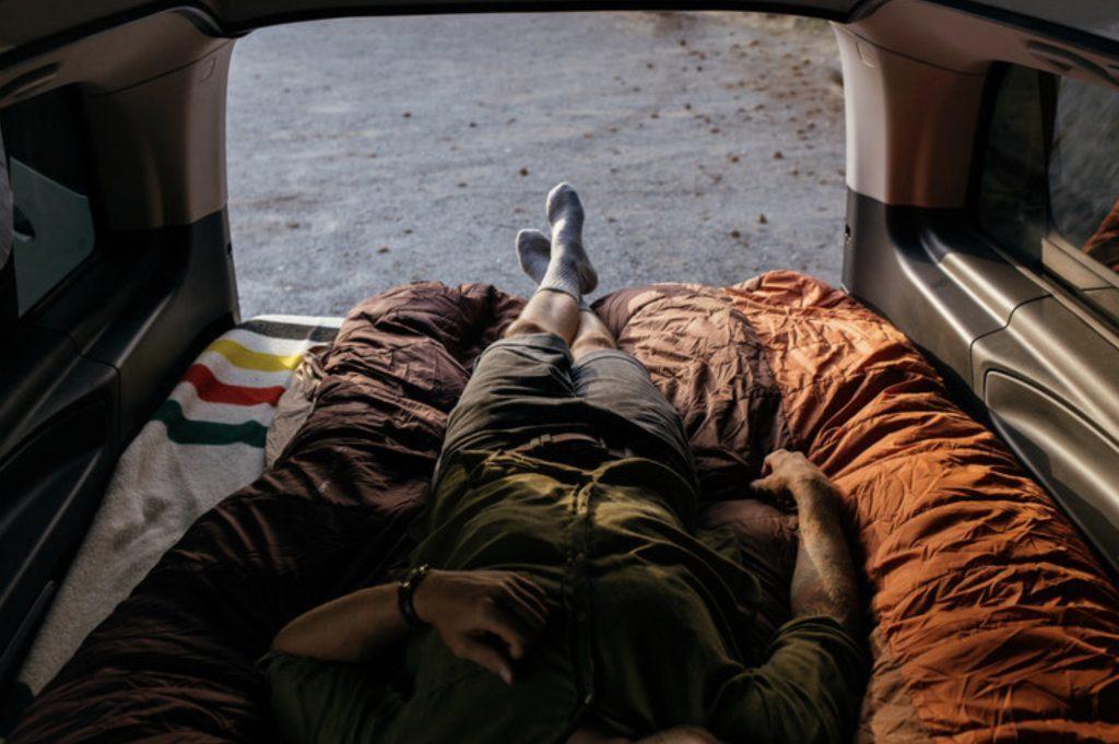 Mercedes Metris Weekender - downstairs bed.
