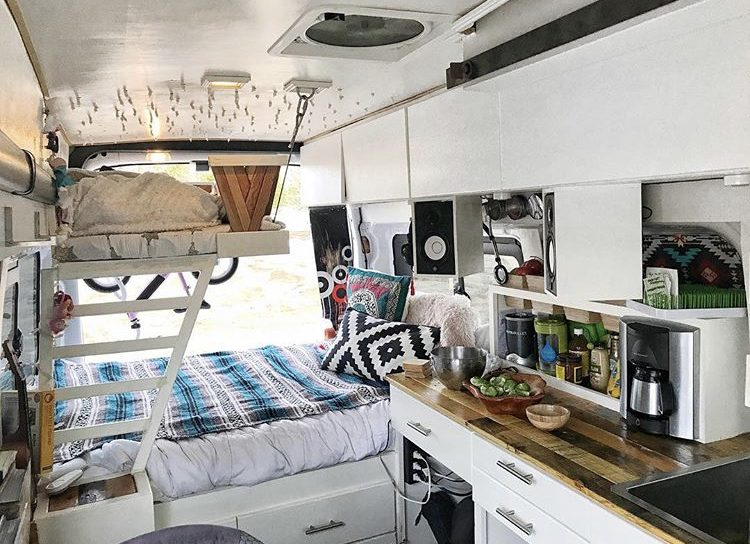 DIY camper van conversions - fite travels van