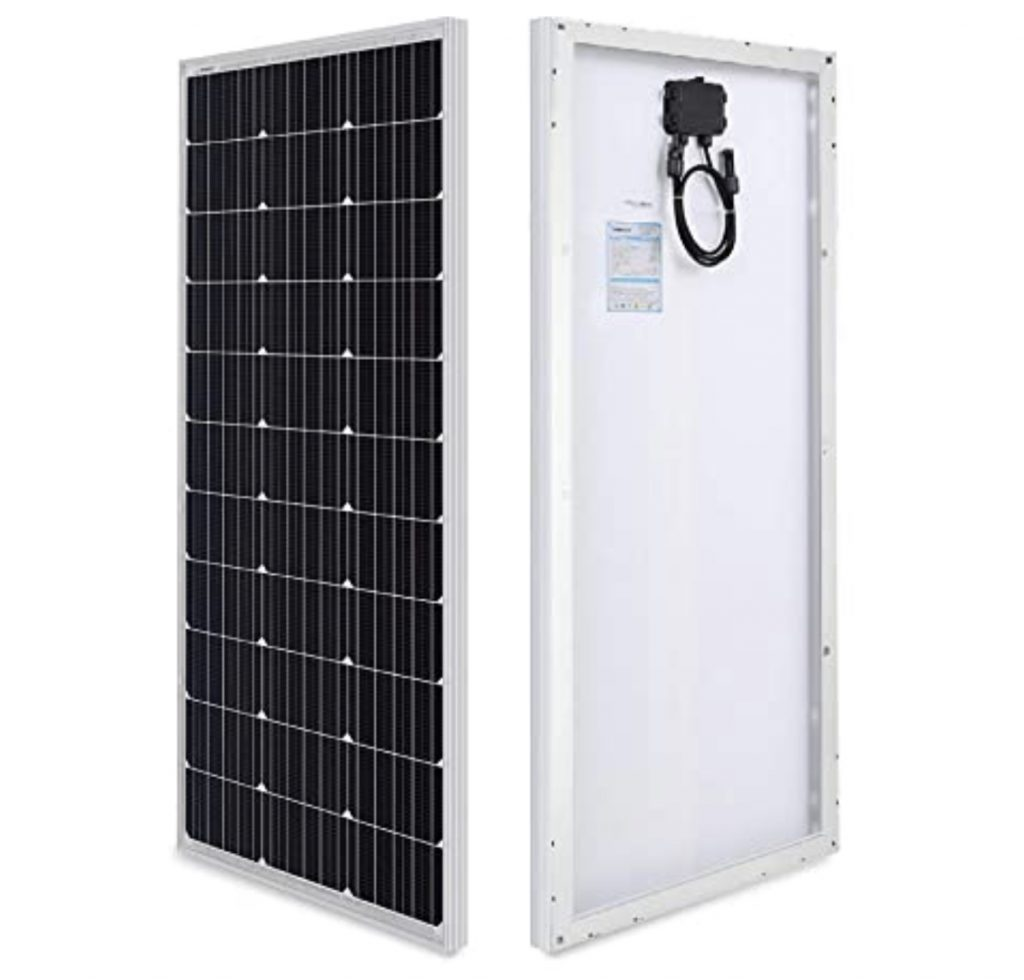 Best RV accessories - Solar Panel back and front