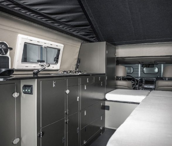 Inside the Toyota Truck Camper Pathenger