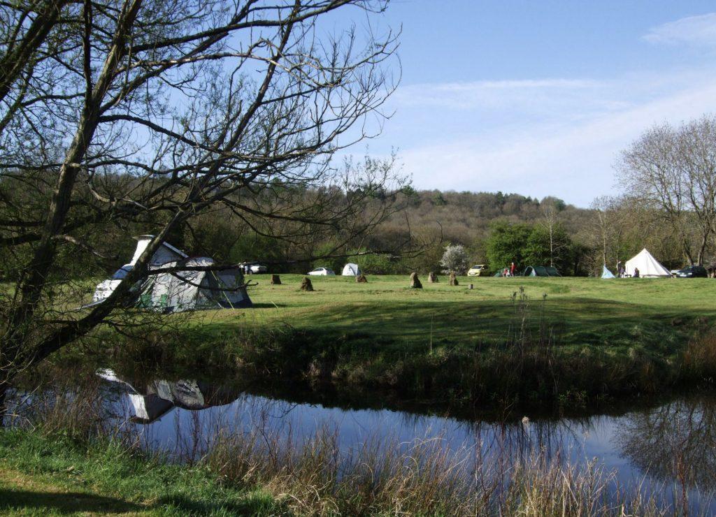 Campsite overlooking river