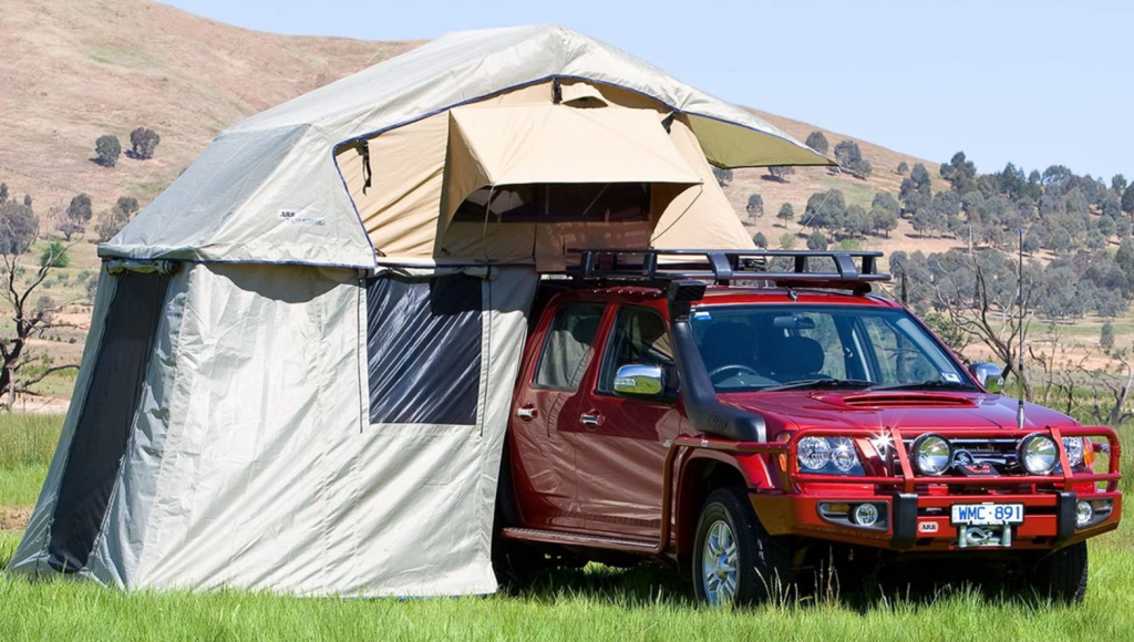 best pop up tents - ARB SImpson annexe and rooftent combo