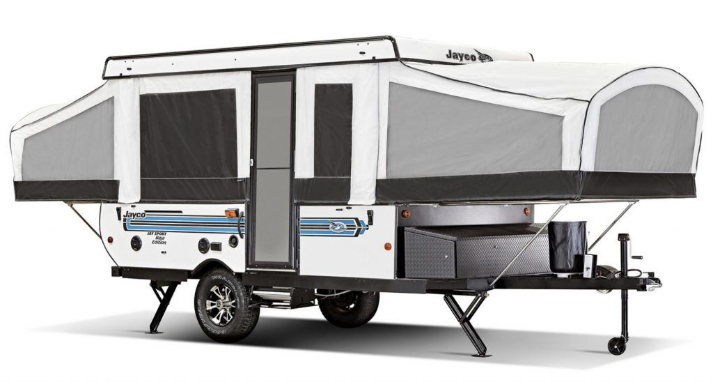Small pop up campers - jay sport expanded exterior