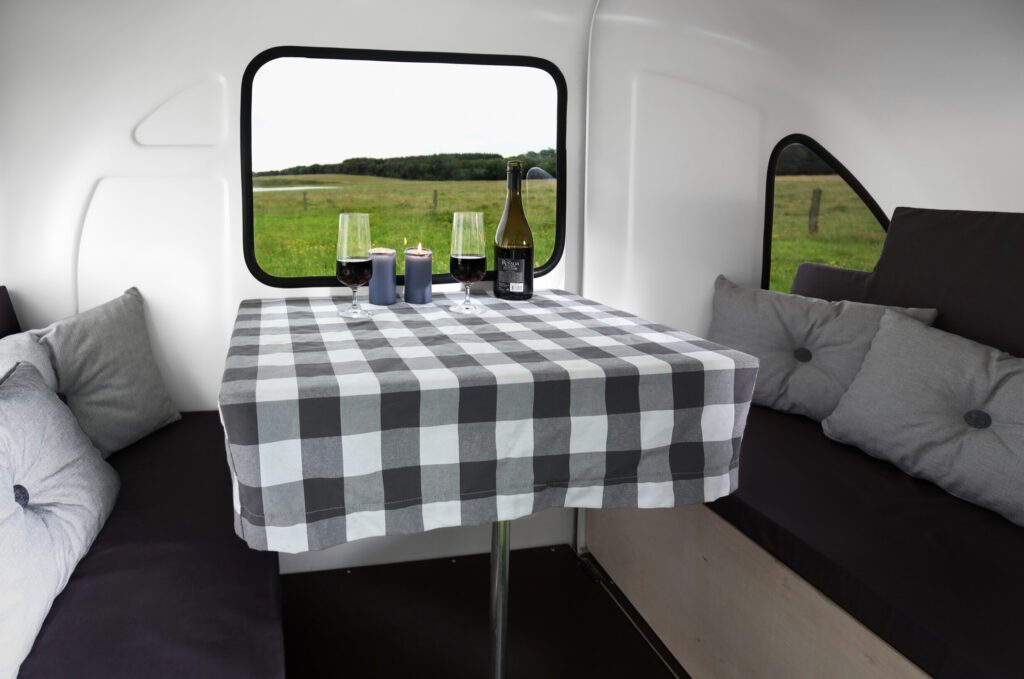 Interior of bike camper