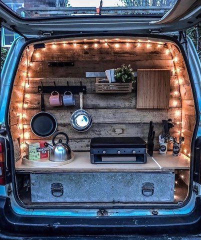 Accessories for vanlifers - Fairy lights at back of van