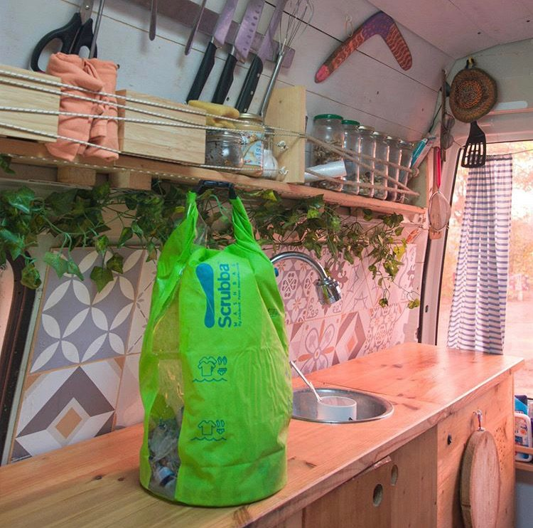 Accessories for vanlifers - scrubba in a van