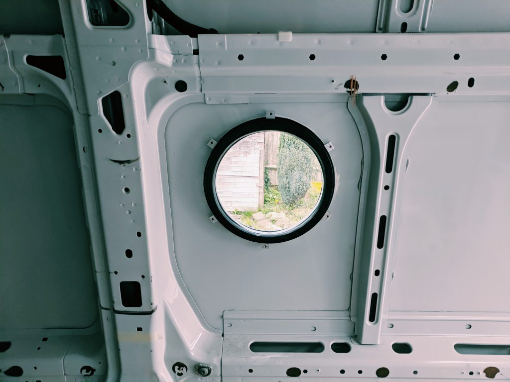 camper van windows - the circular porthole option