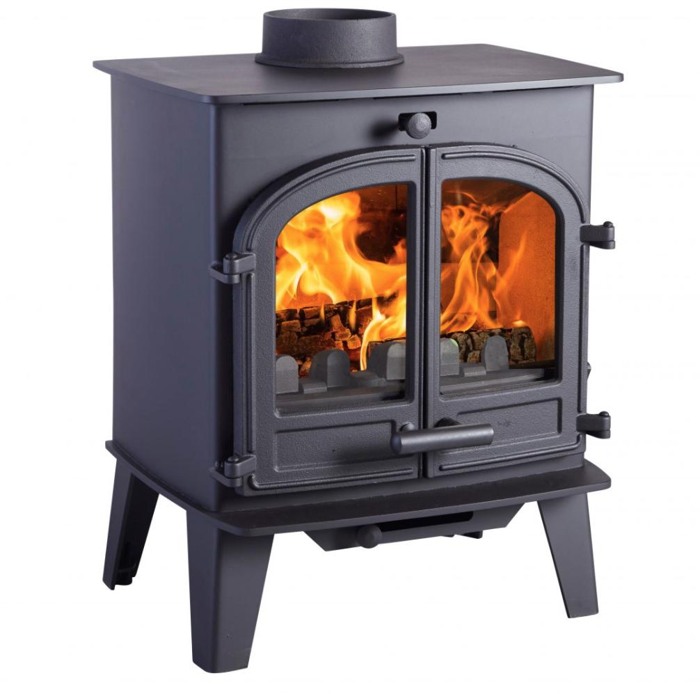 van wood stove - dual door unit