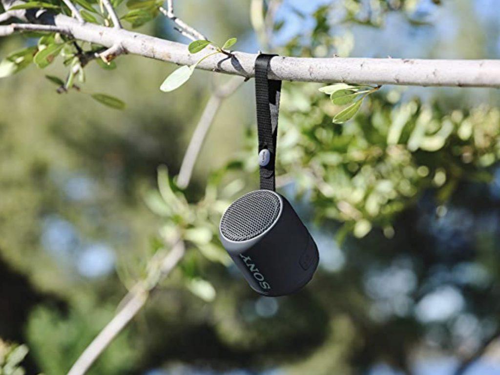 Accessories for vanlifers - speaker in trees