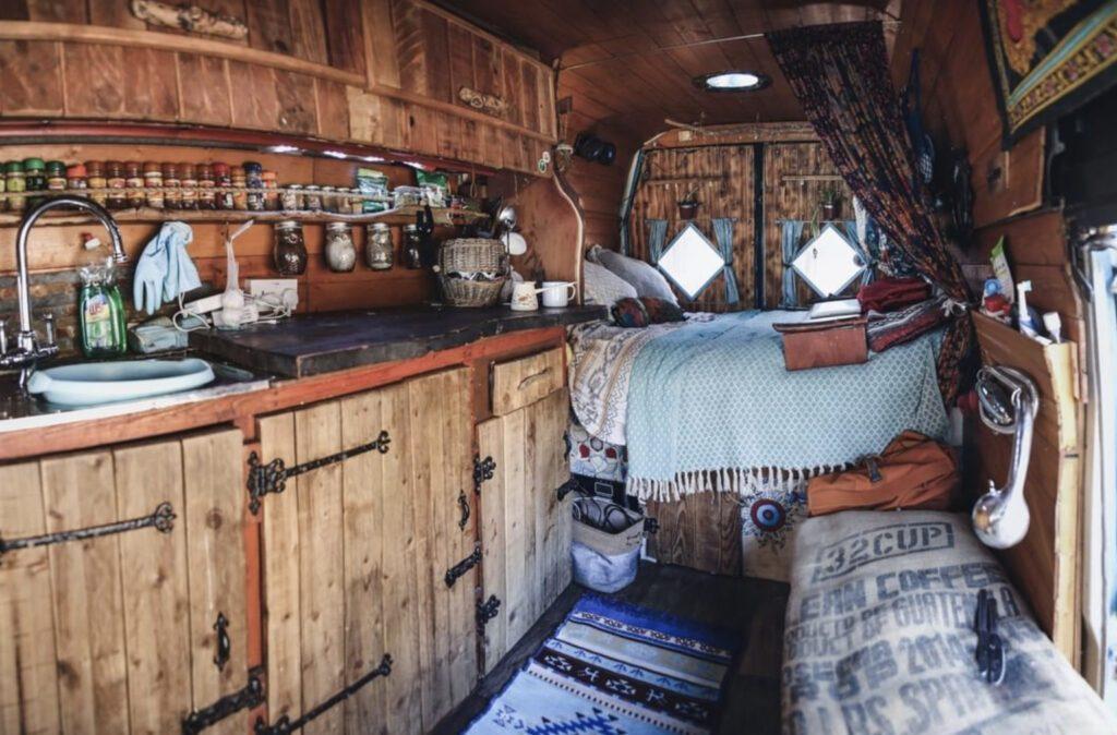 rustic camper