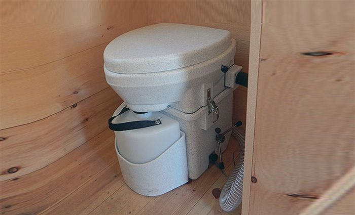 Natures Head Composting toilet - installed in a tiny home