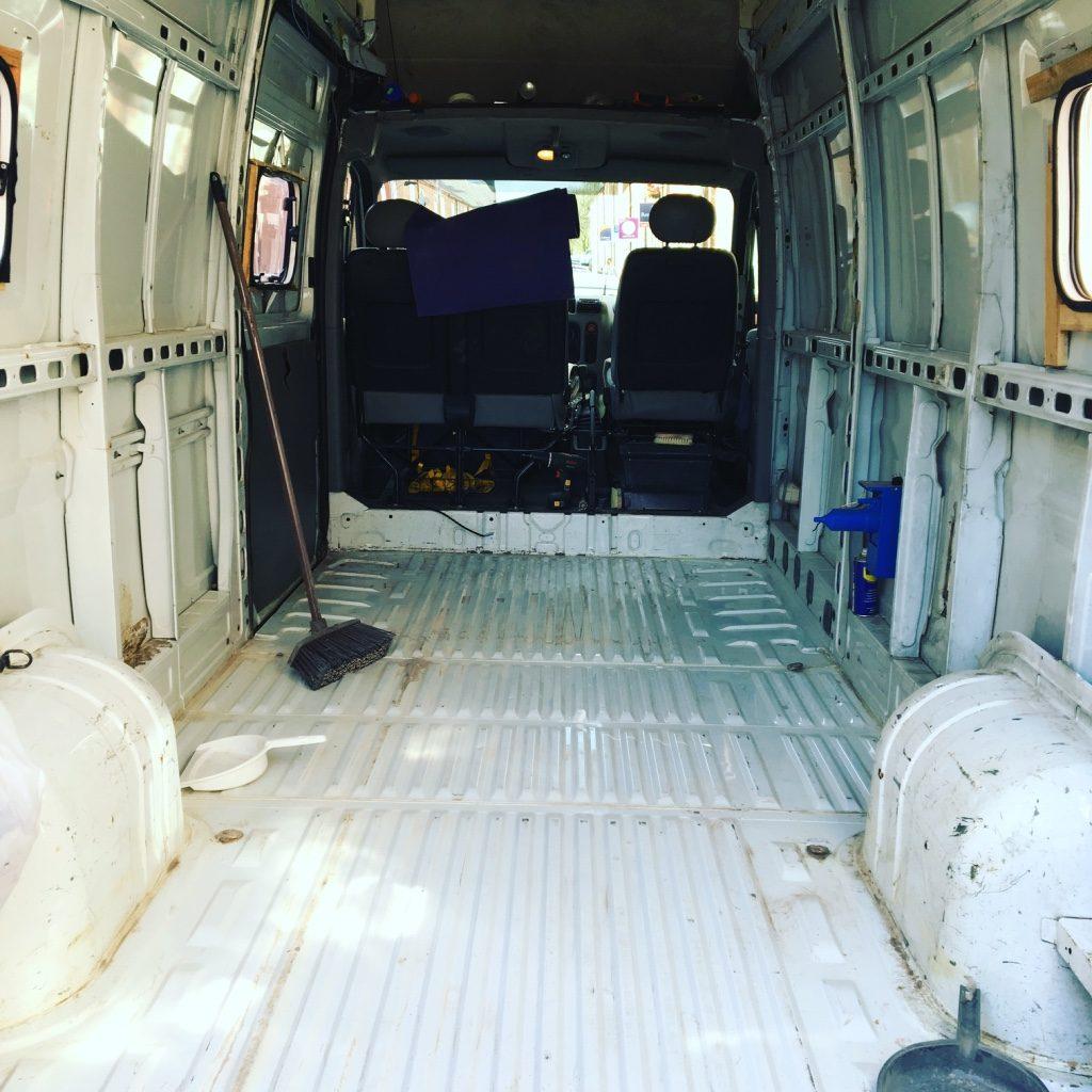 Look over your van when it's an empty shell - van build mistakes